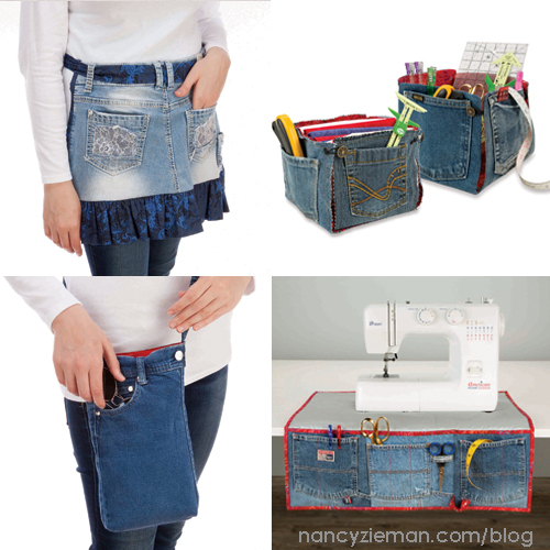 Recycled Jeans=Crafty New Sewing