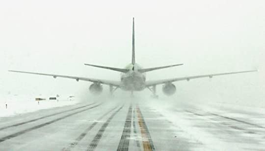 airplane in the snow: