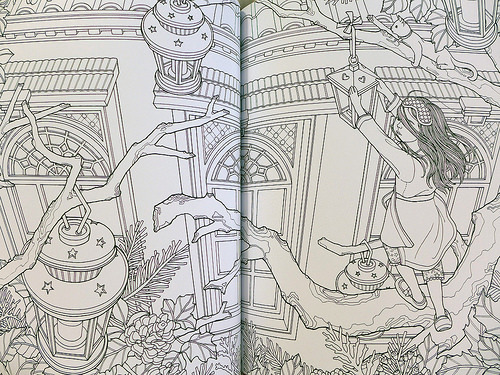 The Night Voyage: A Magical Adventure and Coloring Book by Daria Song