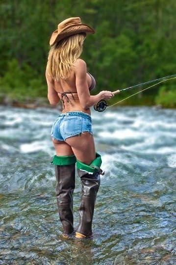 woman in waders: