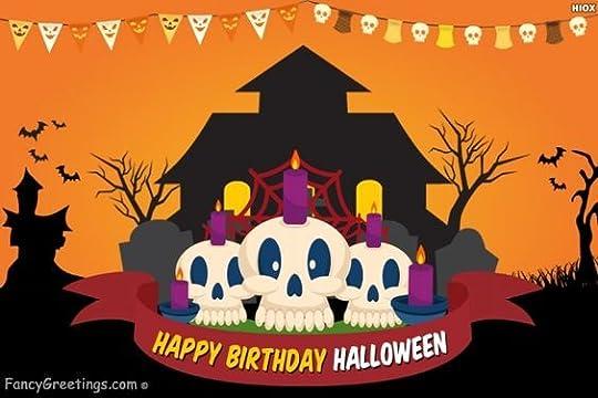 happy halloween happy birthday: