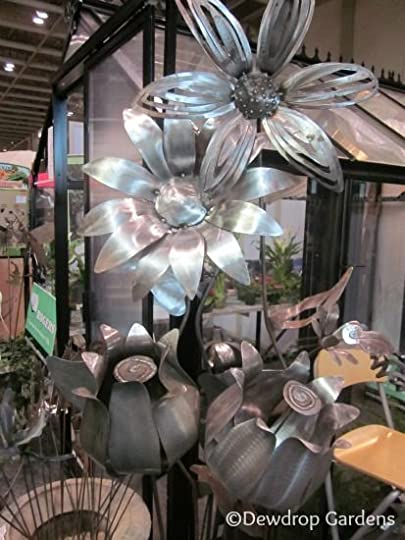 metal flower artwork: