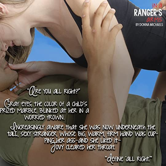 In a Ranger's Arms (The Men of At Ease Ranch, #1) by Donna Michaels