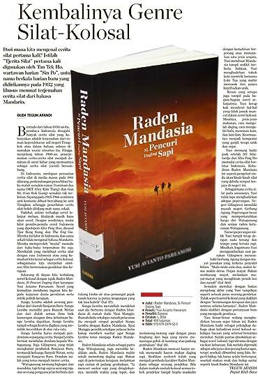 resensi mandasia di Kompas, 26 November 2016