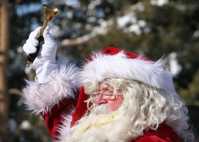 santa ringing bell: