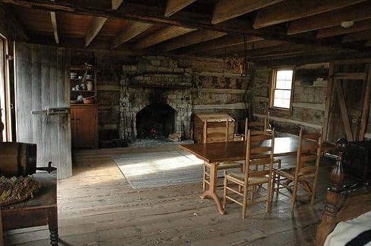 Old Log Cabin Interior: