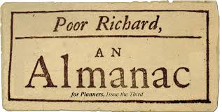 Old cover of one of the published almanacs
