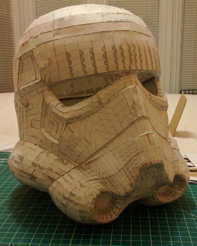 Full-resolution paper model mold base, front 3/4
