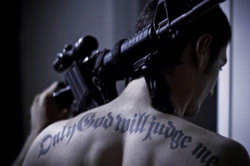 I don't imagine Sam with a tattoo, but I like the pose.: