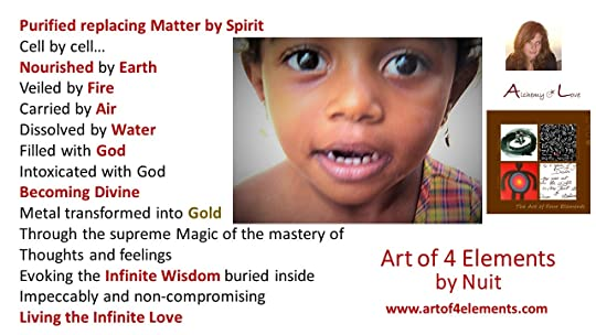Art of 4 elements spiritual poetry about infinite love