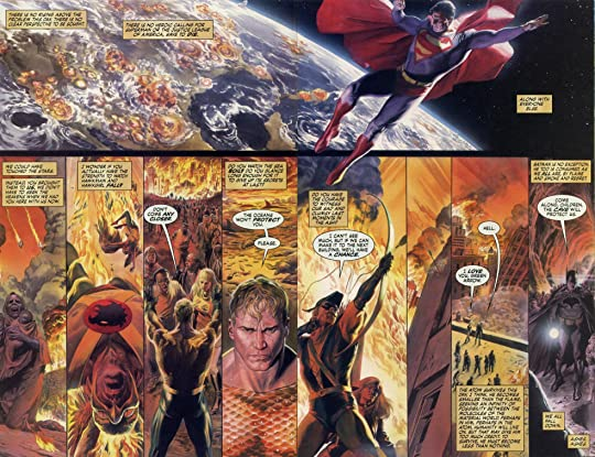 Alex Ross Paintings Over Dough Braithwaite Drawings Are Just Off Scale Breathless