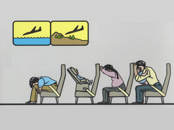 airline safety card