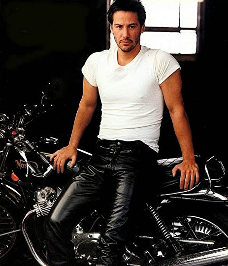 man in leather pants: