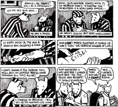 maus and life beautiful comparison essay Jewish fathers and sons in spiegelman's maus as artie recounts vladek's narration to him of the story of his life from the this essay is the.