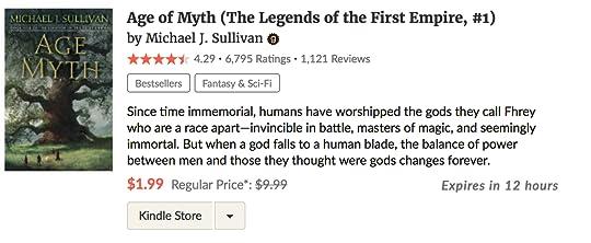 Age of Myth by Michael J  Sullivan