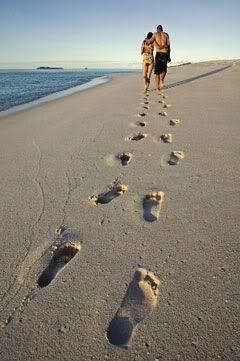 Beach Footprints:
