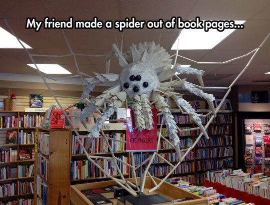 book pages spider