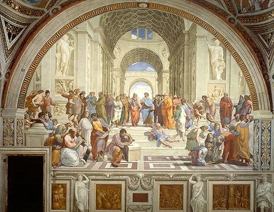 The School of Athens by Raphael (1511); Stanze di Rafaello, Apostolic Palace, the Vatican. Source: Wikipedia