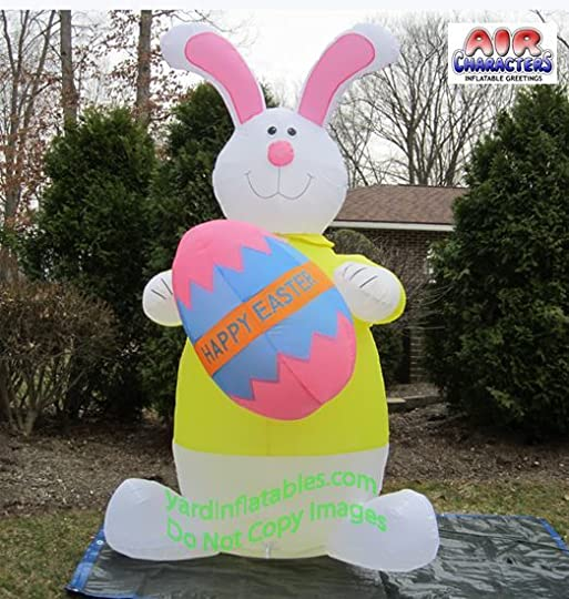 lawn blow up easter bunny