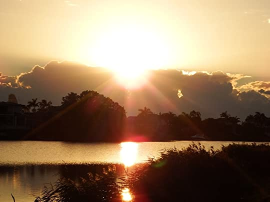 Robina Lakes early sunrise … the children of this world … sparkle like gems lit from within