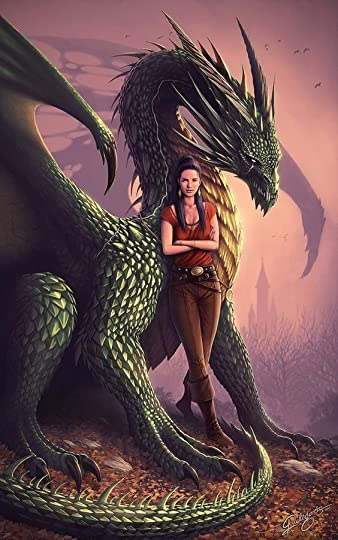 dragon and a woman