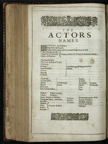 S. First folio