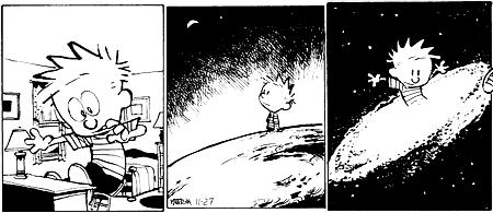 Calvin and Hobbes - Calvin as big as the universe