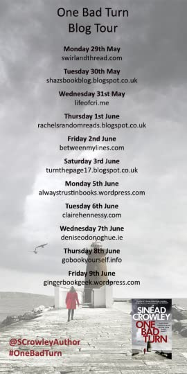 One Bad Turn by Sinead Crowley Blog Tour Poster