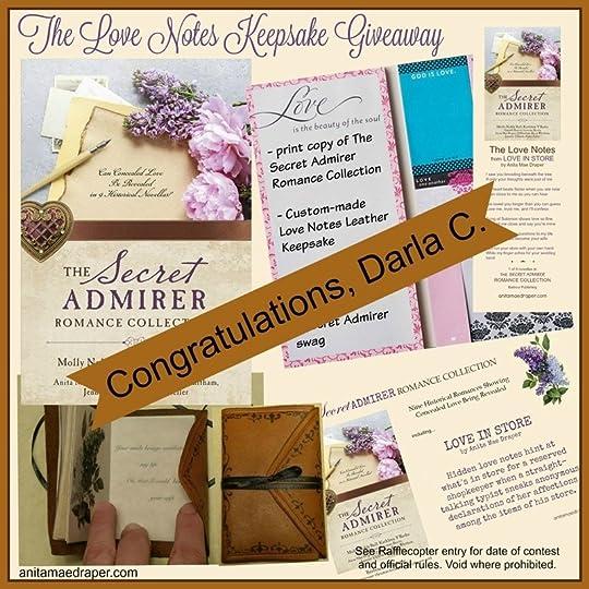 Winner Love Notes KEEPSAKE Giveaway
