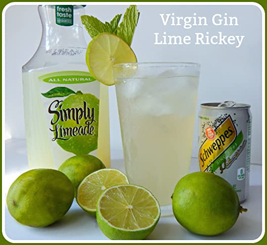 "... ""--My Lazy Virgin Gin Lime Rickey by Cleo Coyle - June 12, 2017 21:20"