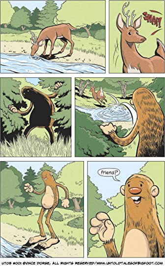 Page from Untold Tales of Bigfoot: Crossing Paths