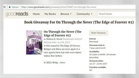 The edge of never goodreads giveaways