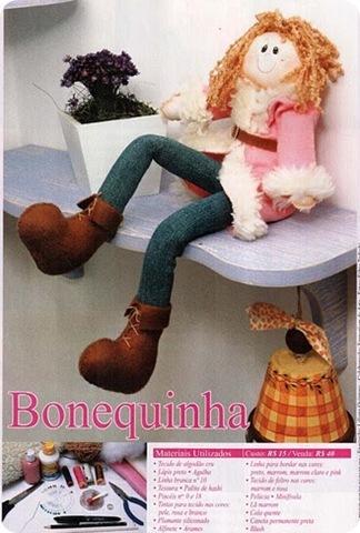 como fazer boneca de pano bailarina passo a passo