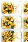Cheesy Broccoli Cheddar Chicken & Rice Bowls