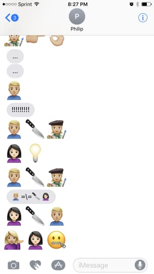 Text Synopsis of The Girl on the Train - with emojis