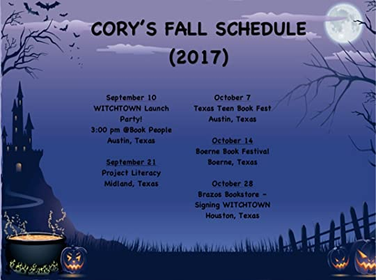 Cory's Fall Schedule - Cropped