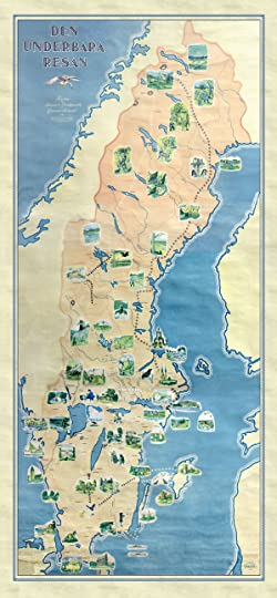 The Wonderful Adventures Of Nils By Selma Lagerlöf - Sweden map physical