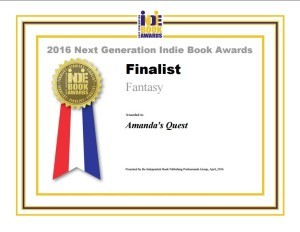 2016 NGIB Award Finalist in Fantasy - Amanda's Quest (preliminary copy)
