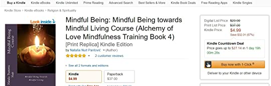 Mindful Being Course Amazon Kindle Count-down