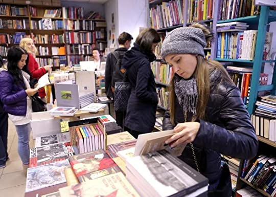 St Petersburg Russia bookstore customers browsing