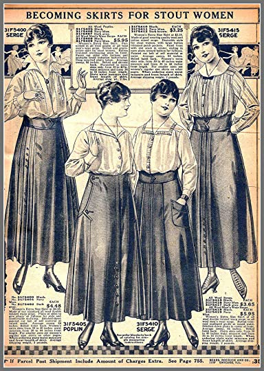 1916 Becoming Skirts for Stout Women, Sears catalog