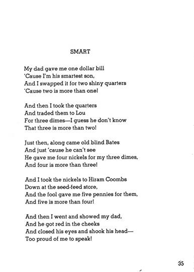 shel silverstein where the sidewalk ends poem pdf