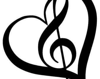 treble clef heart