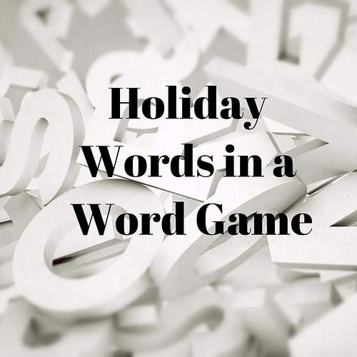 holiday word game