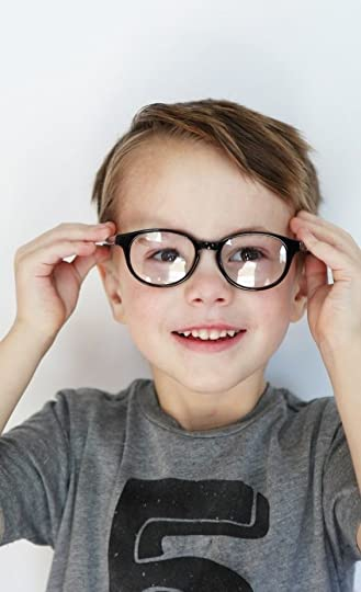 cute boy with glasses