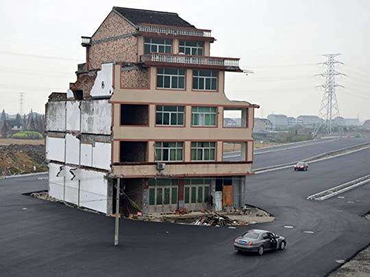 Building in Road