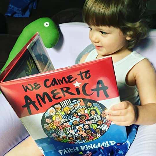 https://thebabybookwormblog.wordpress.com/2017/07/04/we-came-to-america-faith-ringgold/