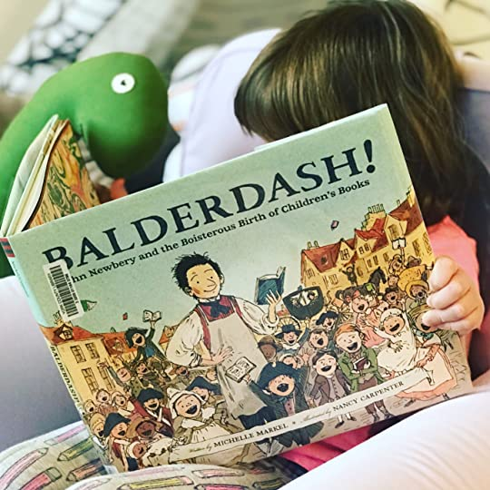 https://thebabybookwormblog.wordpress.com/2017/11/13/balderdash-john-newbery-and-the-boisterous-birth-of-childrens-books-michelle-markel/
