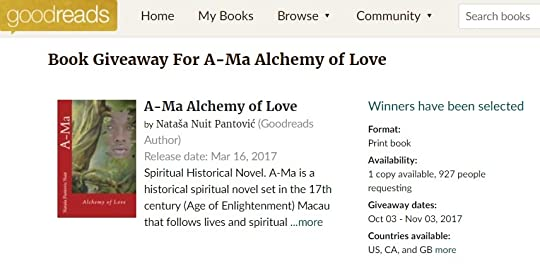 A-Ma Signed Book Giveaway was requested by amazing 927 spiritual researchers
