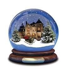 snow globe with a castle inside